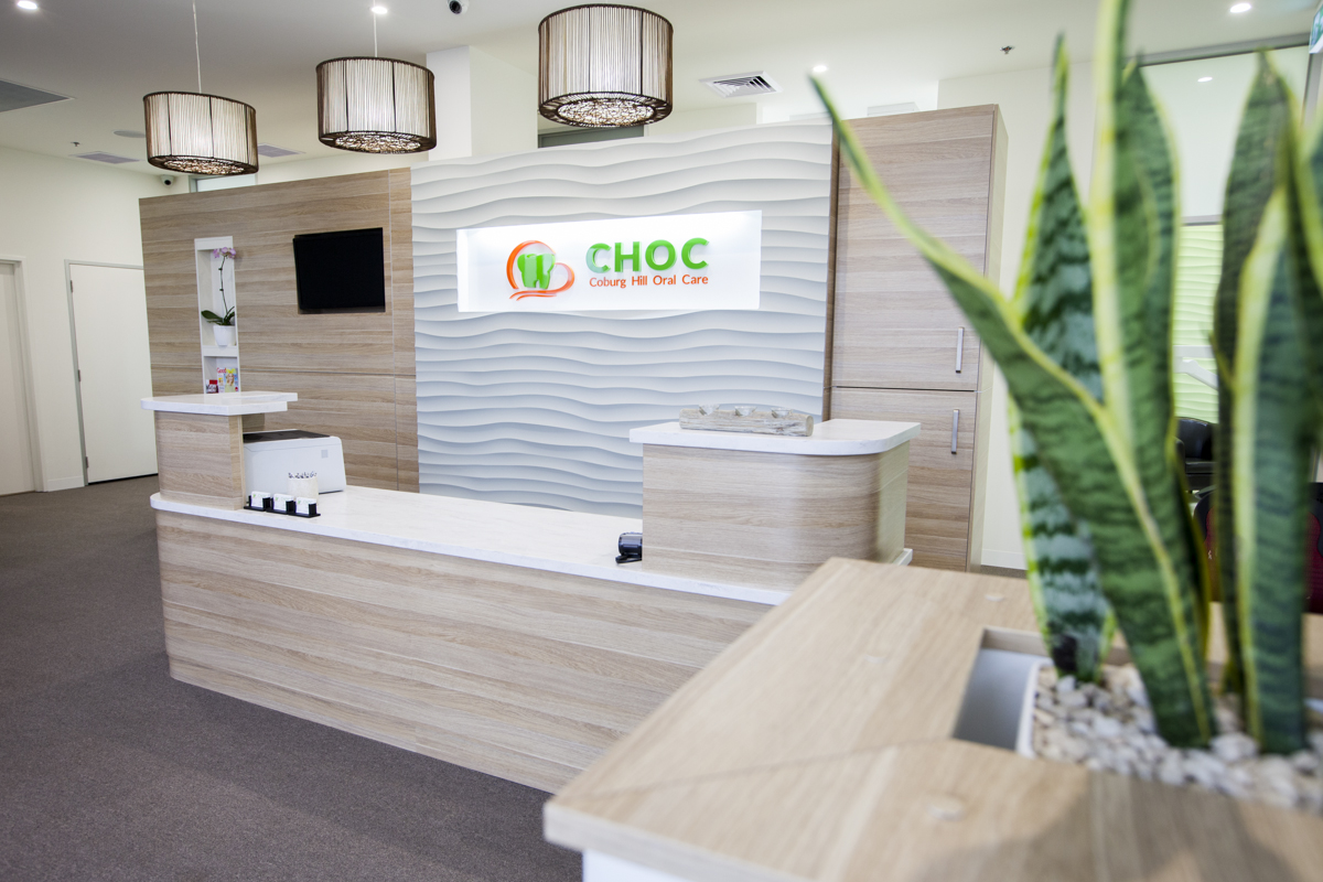 Reception area at Coburg Hill Oral Care