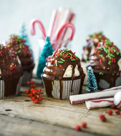 cupcakes and candy canes
